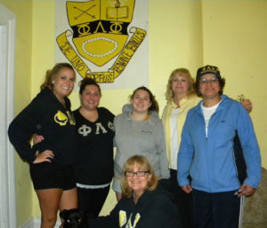 Actives & Alumnae at the house
